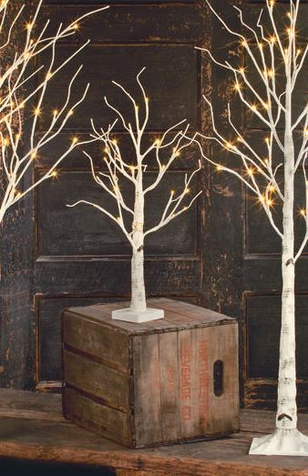 Display Tree - Small Lighted White Birch